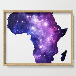 Africa : Purple Blue Galaxy Serving Tray