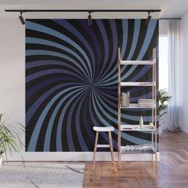 Deep Blue Swirl Wall Mural