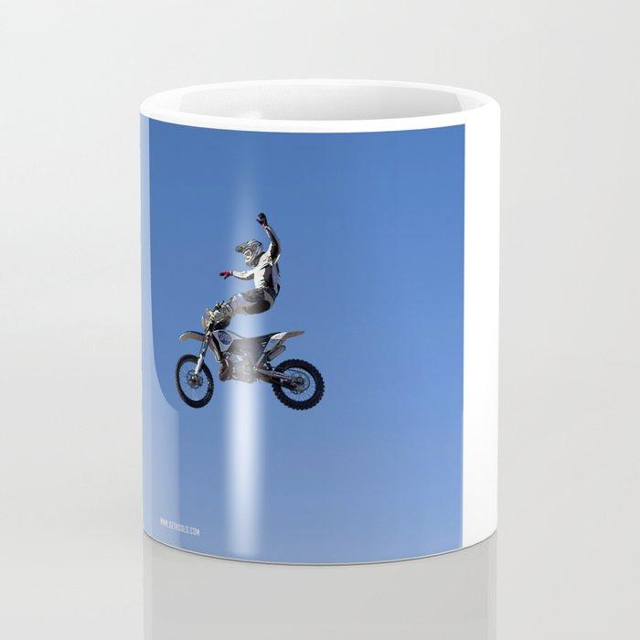 Un Point Fixe - IV - Flying Motocross Rider Coffee Mug