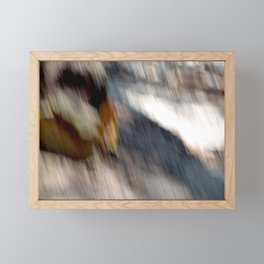 Wind in cliffs Framed Mini Art Print