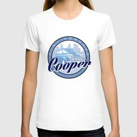 mini cooper T-shirts featuring Cooper by Barbo's Art