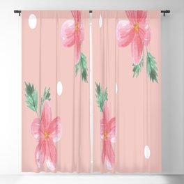Floral Pattern Watercolor flowers Blackout Curtain