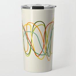 Abstract Minimal Retro Lines Travel Mug