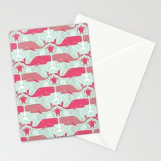 Whales & friends Stationery Cards