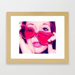 Heart-Shaped Glasses Framed Art Print