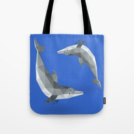 Low Polygon Dolphins Tote Bag