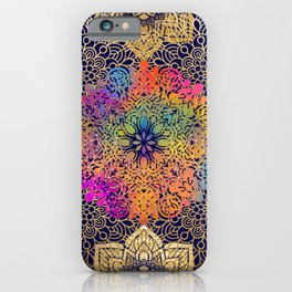 Bohemian 1960's Mandala Pattern of Joy iPhone Case