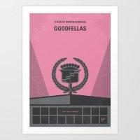 goodfellas Art Prints featuring No549 My Goodfellas minimal movie poster by Chungkong