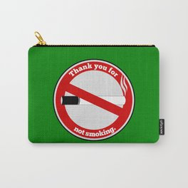 No Smoking Carry-All Pouch