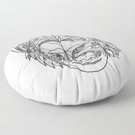Humanzee Smiling Doodle Floor Pillow
