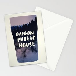 Oregon Public House Poster - 7 Stationery Cards