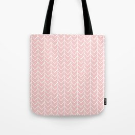 Herringbone Pink Tote Bag