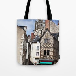 Cottage rustic house, French countryside, summer holiday Tote Bag