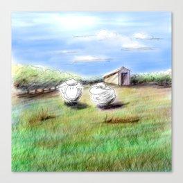 Shiny Virtual Sheep Canvas Print