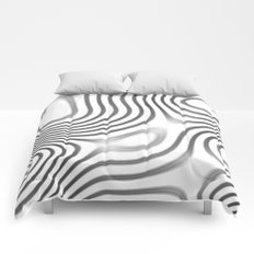 Organic Abstract 01 WHITE Comforters