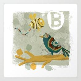 """B"" Art Print"