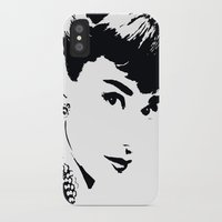 audrey hepburn iPhone & iPod Cases featuring Audrey Hepburn by Saundra Myles