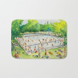Deep Eddy Pool - Austin, Texas Bath Mat