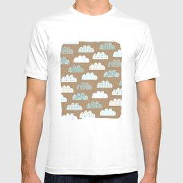 clouds pattern T-shirt