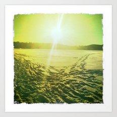 Lac des Pins Art Print