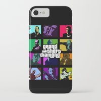 grand theft auto iPhone & iPod Cases featuring Grand Theft Diamond Snatchers by Ant Atomic