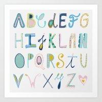 alphabet Art Prints featuring Alphabet by Anto Del Vecchio