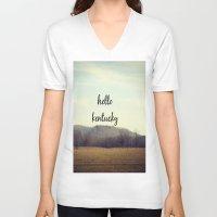 kentucky V-neck T-shirts featuring Hello Kentucky by KimberosePhotography