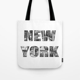New York  B&W typography Tote Bag