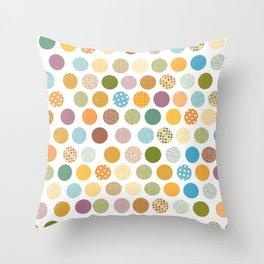 bohemian circles Throw Pillow