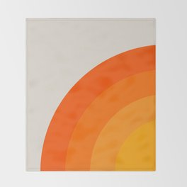 Sunrise Rainbow - Left Side Throw Blanket