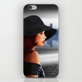 The beauty at night with vintage car iPhone Skin