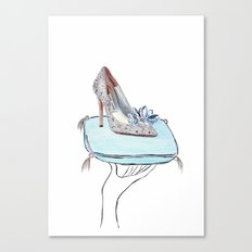 Cinderella slipper Canvas Print