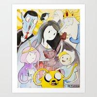 AT : The Gang Art Print