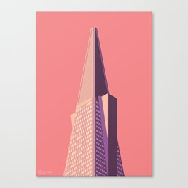 San Francisco Towers - 01 - Transamerica Pyramid (sunset version) Canvas Print