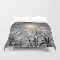 kubrick Duvet Covers featuring Nature Blazes Before Your Eyes 2 (Ash Embers) by soaring anchor designs