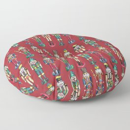 The Nutcracker Prince Pattern Red Floor Pillow
