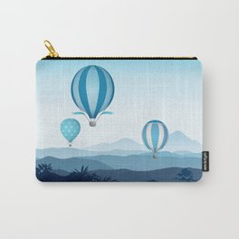 Hot air balloons - blue mountains Carry-All Pouch