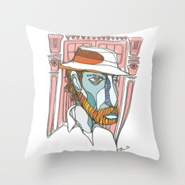 I saw emptiness and found myself there Throw Pillow
