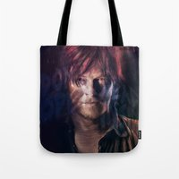 daryl Tote Bags featuring Daryl Dixon by Guilherme Marconi