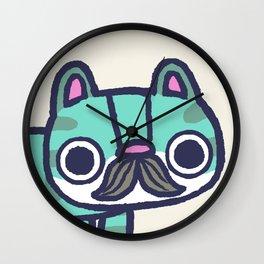 Mustachio Up Close Wall Clock