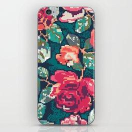 Cross roses iPhone Skin