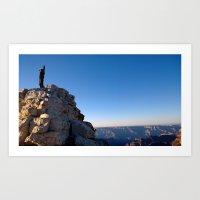 On top of Grand Canyon Art Print