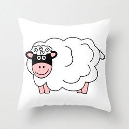 Sheepish! Throw Pillow