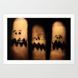Scared Fingers Art Print