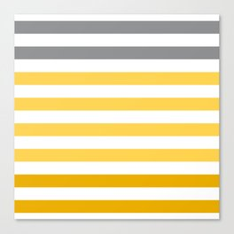 Stripes Gradient - Yellow Canvas Print