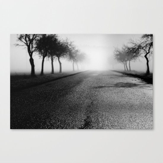Pearly road Canvas Print