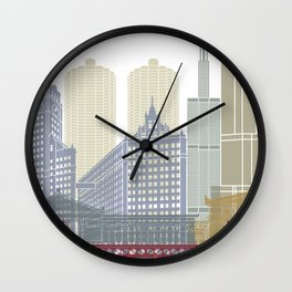 Chicago skyline poster Wall Clock
