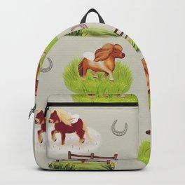 Shetland Ponies Backpack