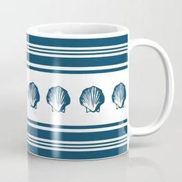 Seashells and stripes Coffee Mug