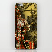 chicago map iPhone & iPod Skins featuring chicago by Bekim ART
